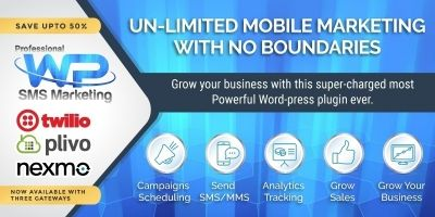 Professional Wordpress SMS Marketing Plugin