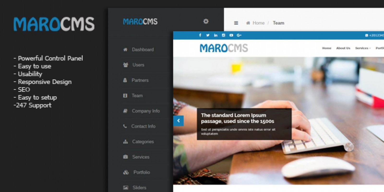 MaroCMS - Lightweight Business CMS PHP