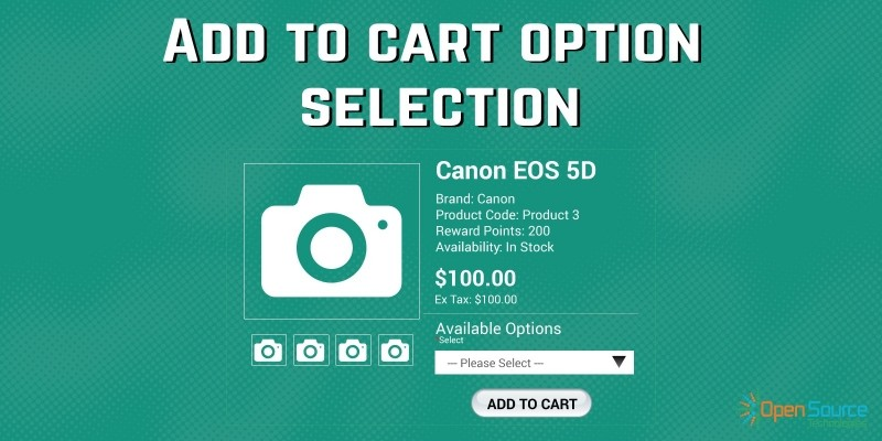 Add To Cart Option Selection - OpenCart Extension