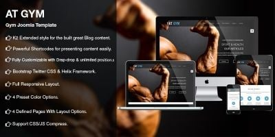 AT Gym – Fitness Gym Joomla template