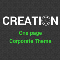 Creation - One page HTML Template