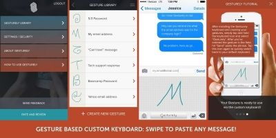 Gesture Based Keyboard - iOS App Template