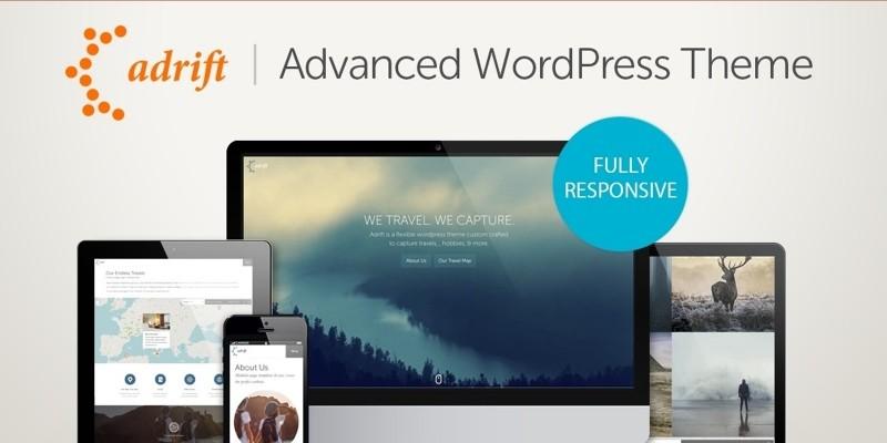 Adrift - Map Focused WordPress Theme