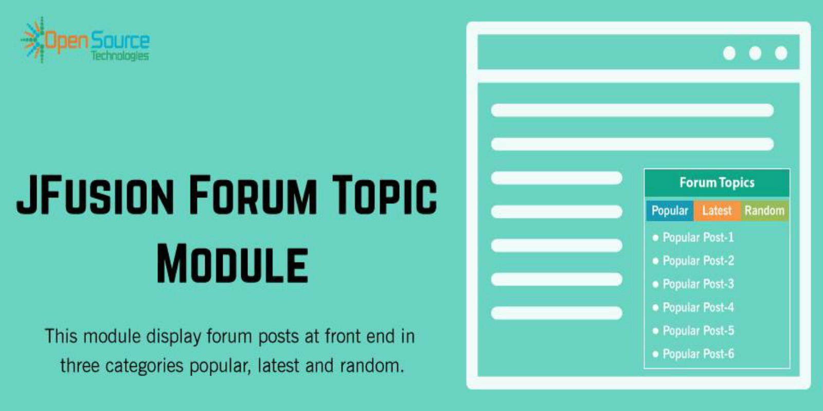 Jfusion Forum Topic Module