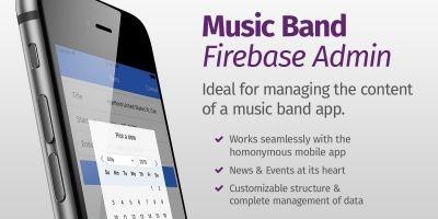 Music Band Firebase Admin - Ionic Admin App UI
