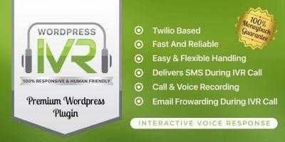Wordpress Interactive Voice Response IVR Plugin