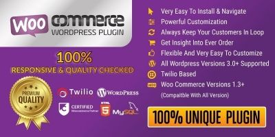 WooCommerce Wordpress SMS Plugin