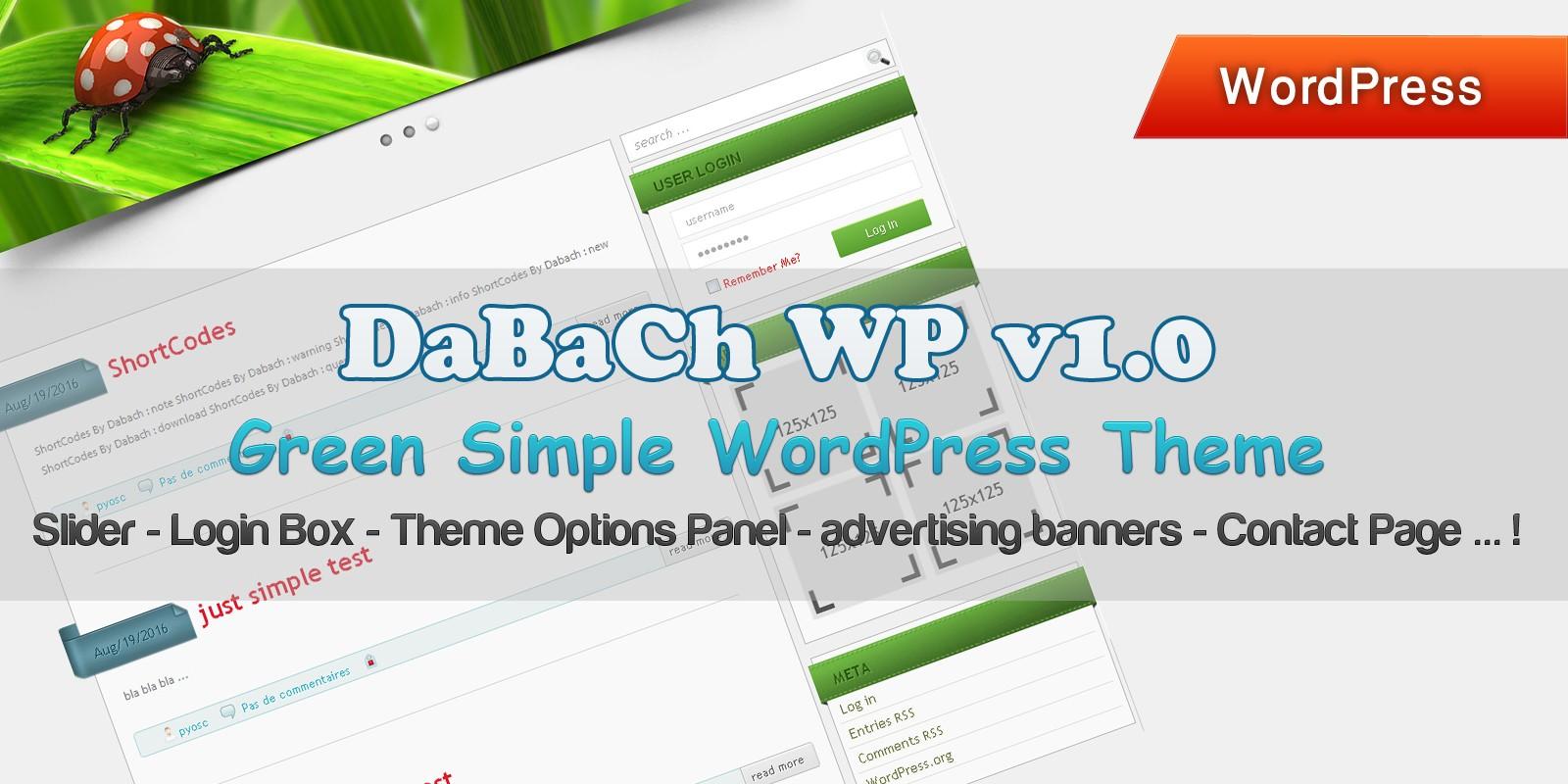 DaBaCh WP - Green Simple WordPress Theme