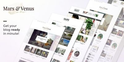 Mars And Venus - MultiConcept WordPress Blog Theme