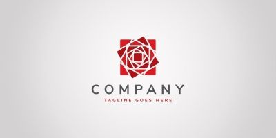 Cubic Rose Logo Template