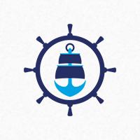 Ship Anchor Logo Template