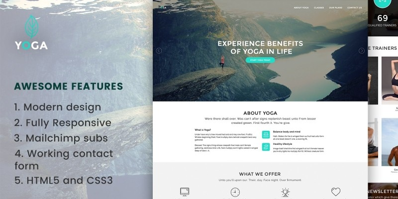 Yoga - Gym Website HTML Template