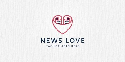 Love News - Logo Template
