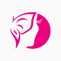 Miss Butterfly Logo Template