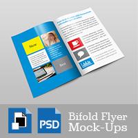 Bifold Flyer Mockup Templates Vol 001