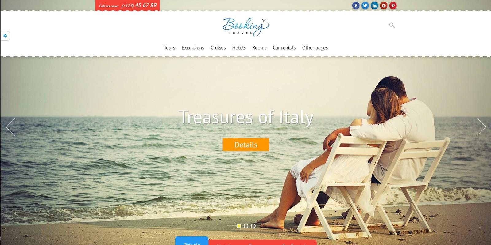 Booking Travel WordPress Theme