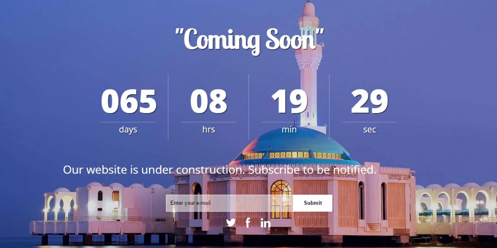 Jeddah City - Coming Soon HTML Template