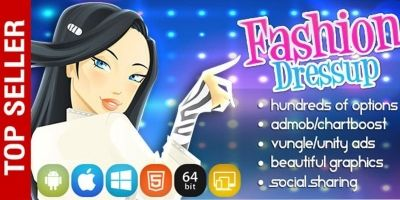 Fashion Dress Up - Unity Game Source Code