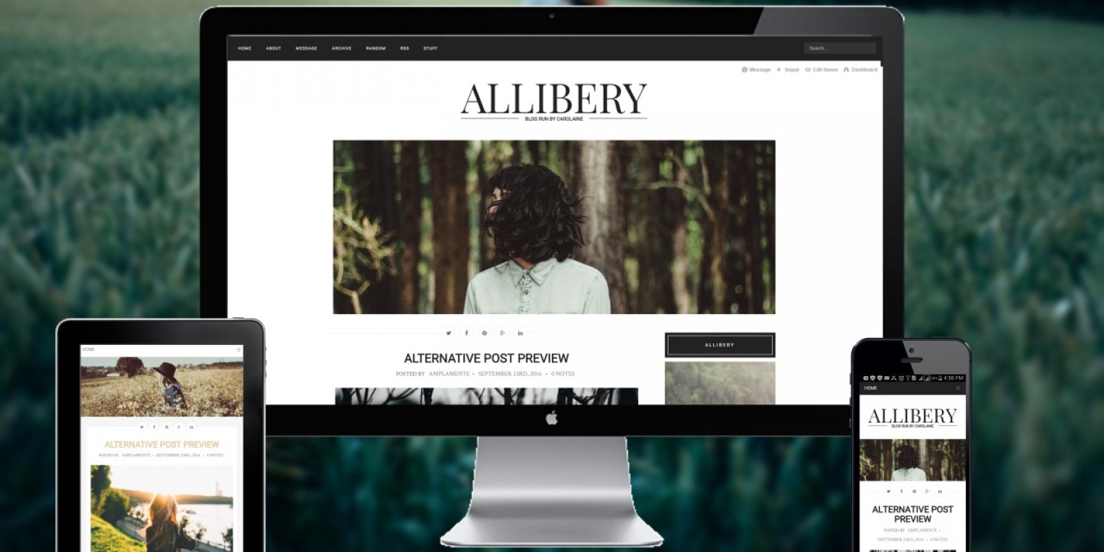 Allibery - Tumblr Theme