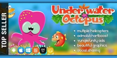 Underwater Octopus - Unity Game Source Code