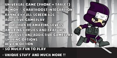 Running Ninja Adventure - iOS Game Source Code