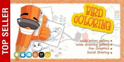Birds Coloring Game - iOS Source Code