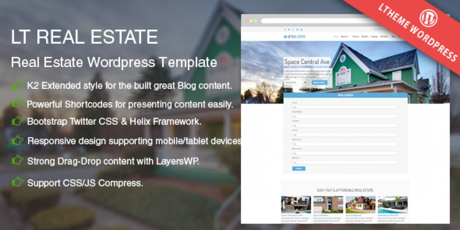 LT Real Estate – Real Estate WordPress Theme