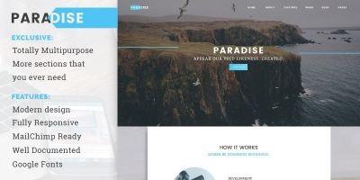 Paradise - Creative Multipurpose Landing Page