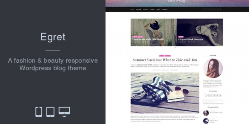Egret - Fashion And Beauty WordPress Theme