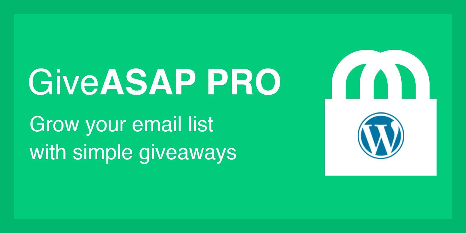 GiveASAP Pro - WordPress Plugin