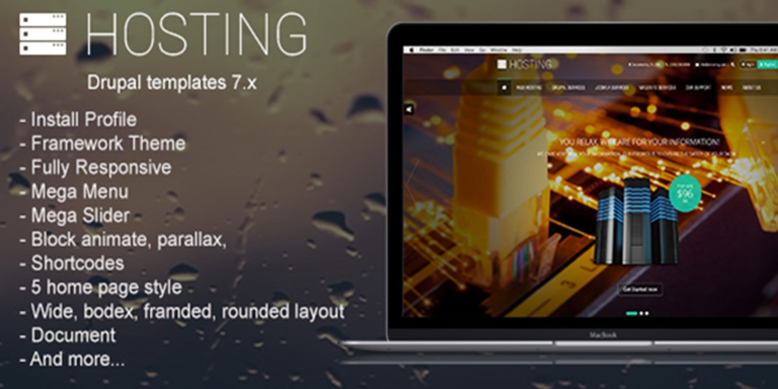 Hosting - Creative Drupal Theme