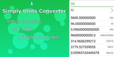 Simple Units Converter - Cordova App Template