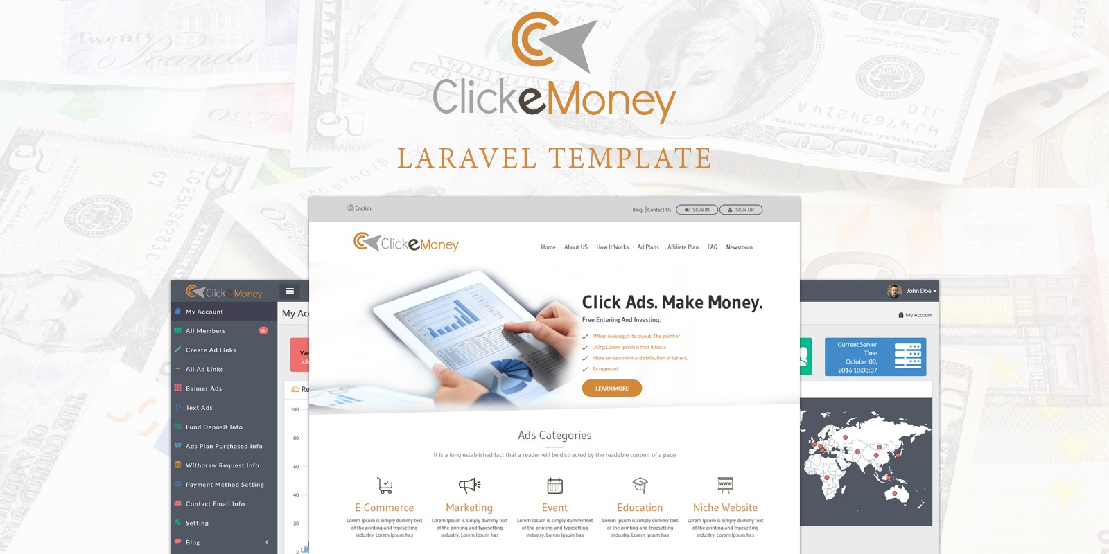 Click E Money - PHP Advertiser Script
