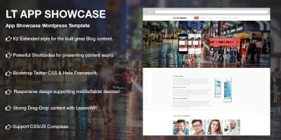 LT App Showcase - Application Wordpress Theme