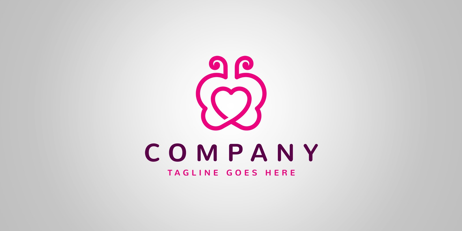 Butterfly Heart - Logo Template