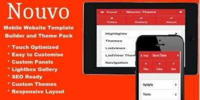 Nouvo - Mobile Website Template Pack