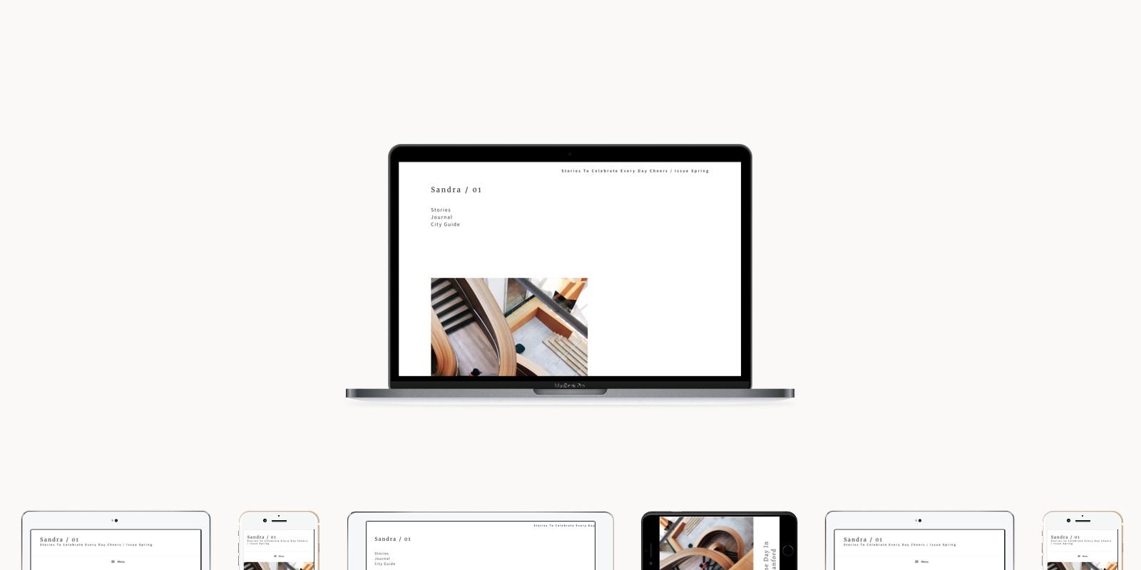 Sandra - Minimalistic WordPress Theme