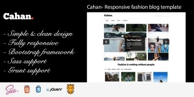 Cahan - Fashion Blog HTML Template