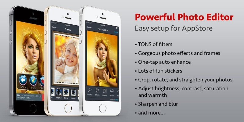 Powerful Photo Editor - iOS App Source Code
