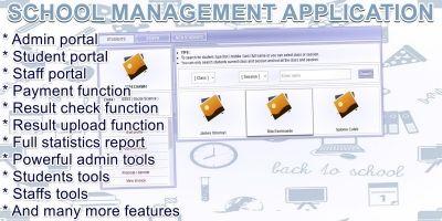 School Management Application PHP Script