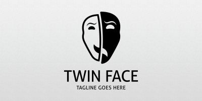 Twin Face - Logo Template