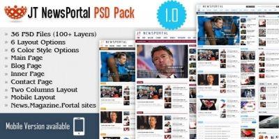 JT News Portal PSD Pack