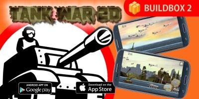 Tank War 2D - Buildbox Game Template