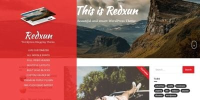 Redxun WordPress Theme
