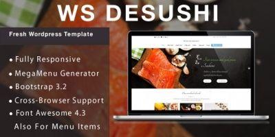 WS Desushi - Restaurant WooCommerce Theme