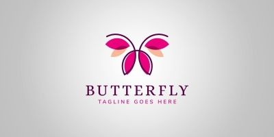 Simple Butterfly Logo Template