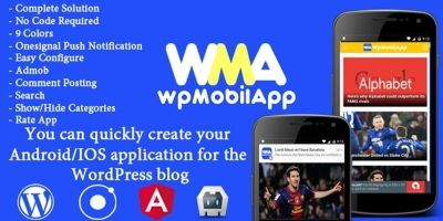 WpMobilApp - Wordpress Site To Mobile App