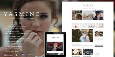 Yasmine - Multipurpose Shop WordPress Blog Theme