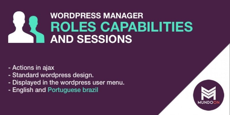 WP Roles Capabilities And Sessions Manager Plugin
