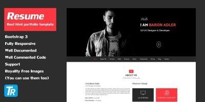 Resume - Personal Portfolio Web Template